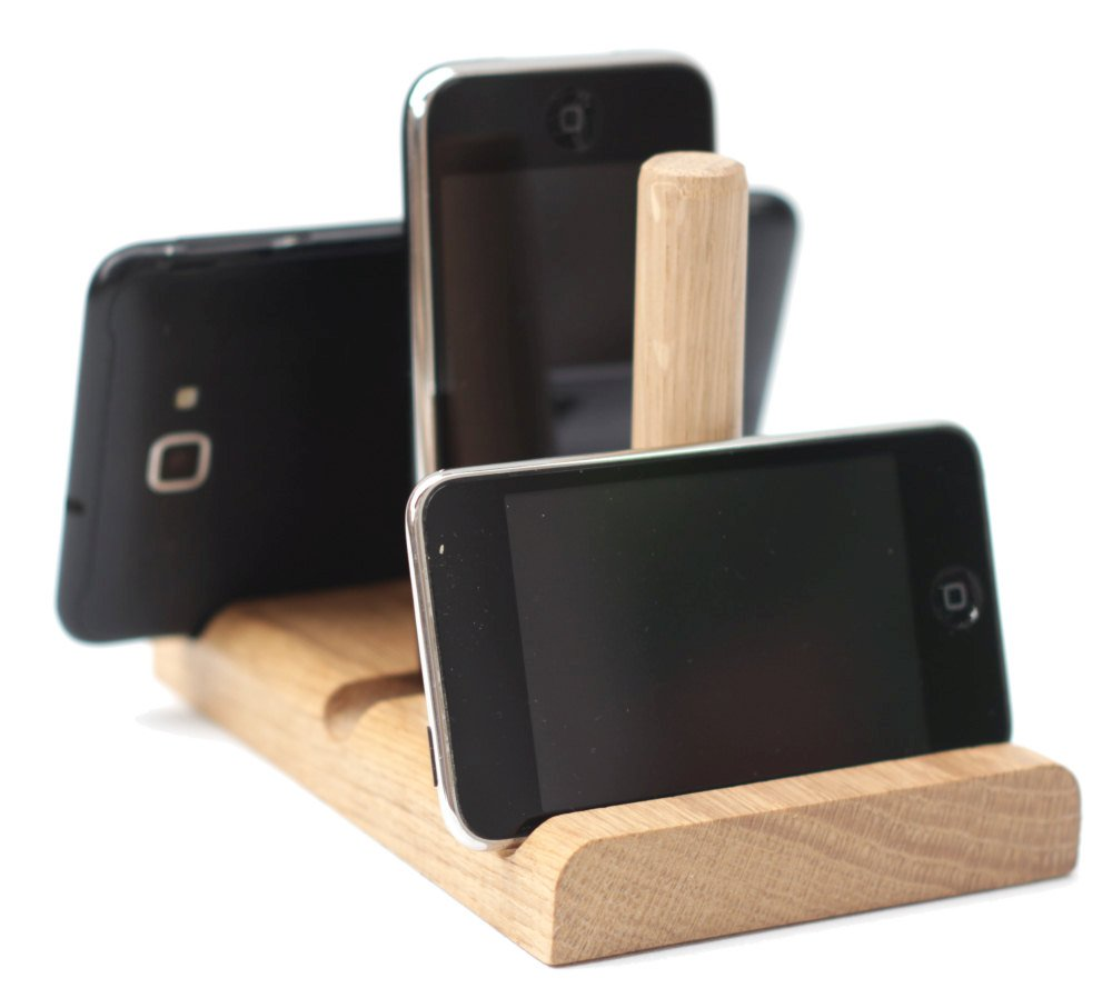 Leanii station phone and tablet stand holding several phones